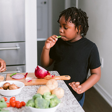 Nutrition training for kids